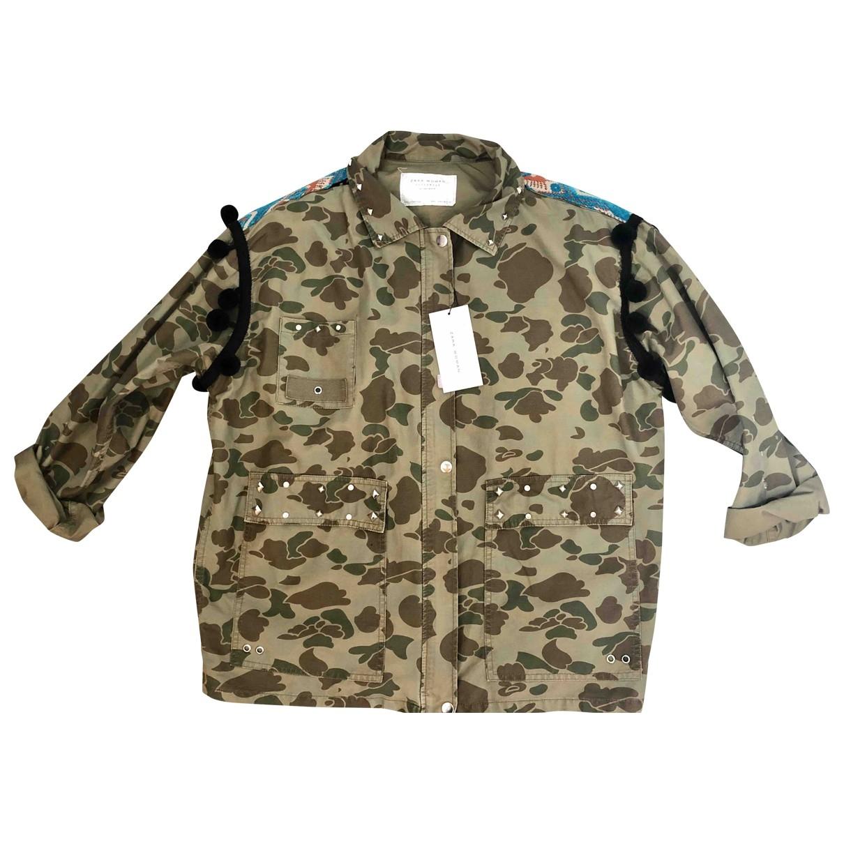 Zara \N Khaki jacket for Women 14 UK