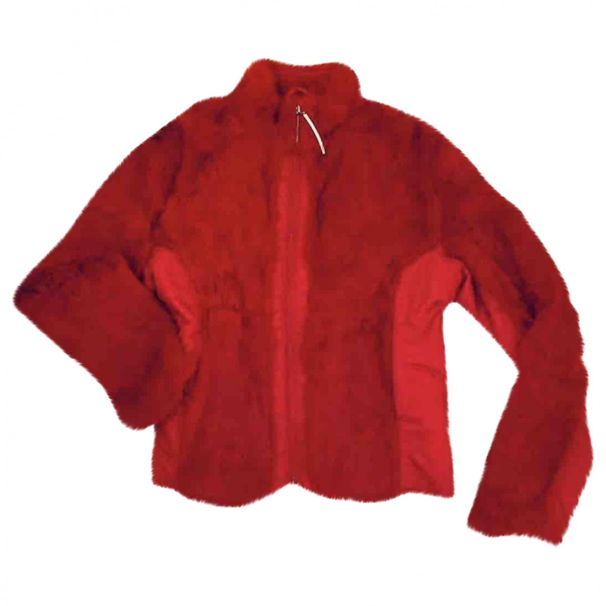 - Veste   pour femme en lapin - rouge