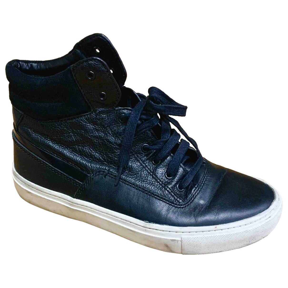 Vince \N Black Leather Trainers for Women 38 EU
