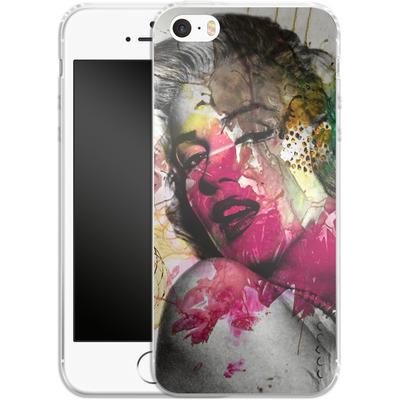 Apple iPhone SE Silikon Handyhuelle - Woman Aquarelle von Mark Ashkenazi
