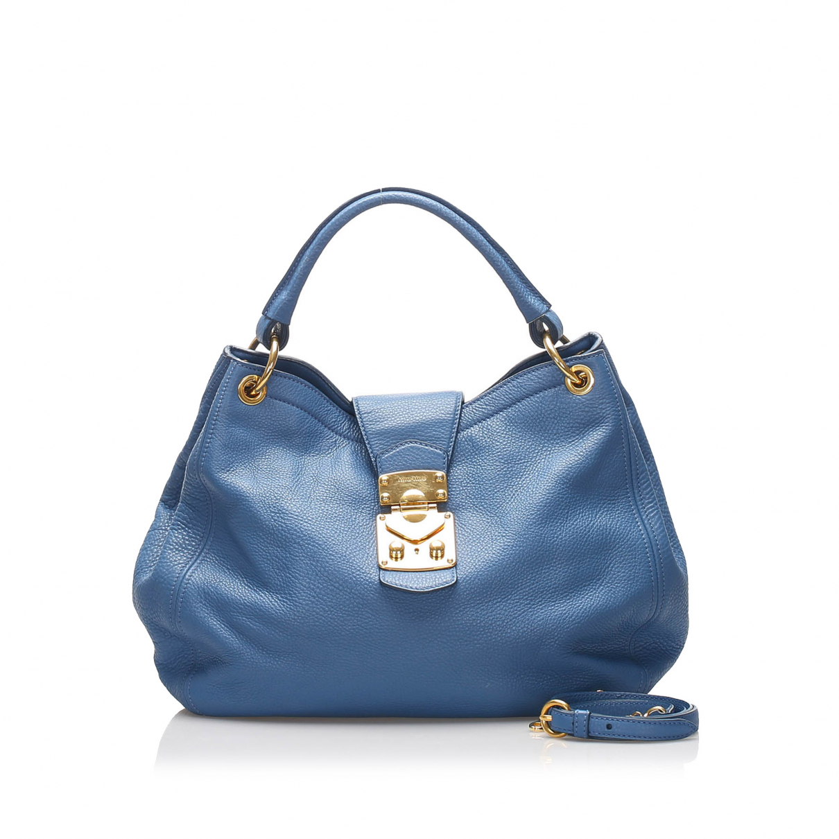Miu Miu \N Handtasche in  Blau Leder