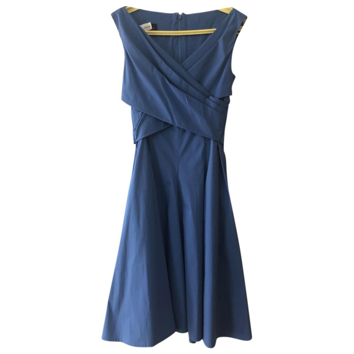 Talbot Runhof \N Kleid in  Blau Baumwolle - Elasthan