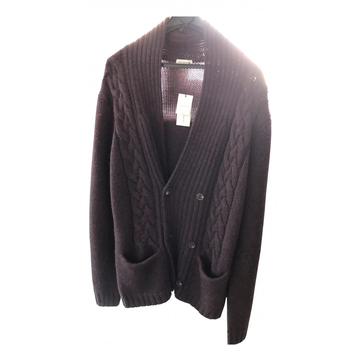 Dries Van Noten \N Pullover.Westen.Sweatshirts  in  Bordeauxrot Wolle