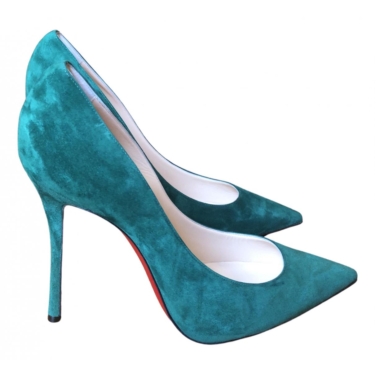Christian Louboutin \N Green Suede Heels for Women 42 IT