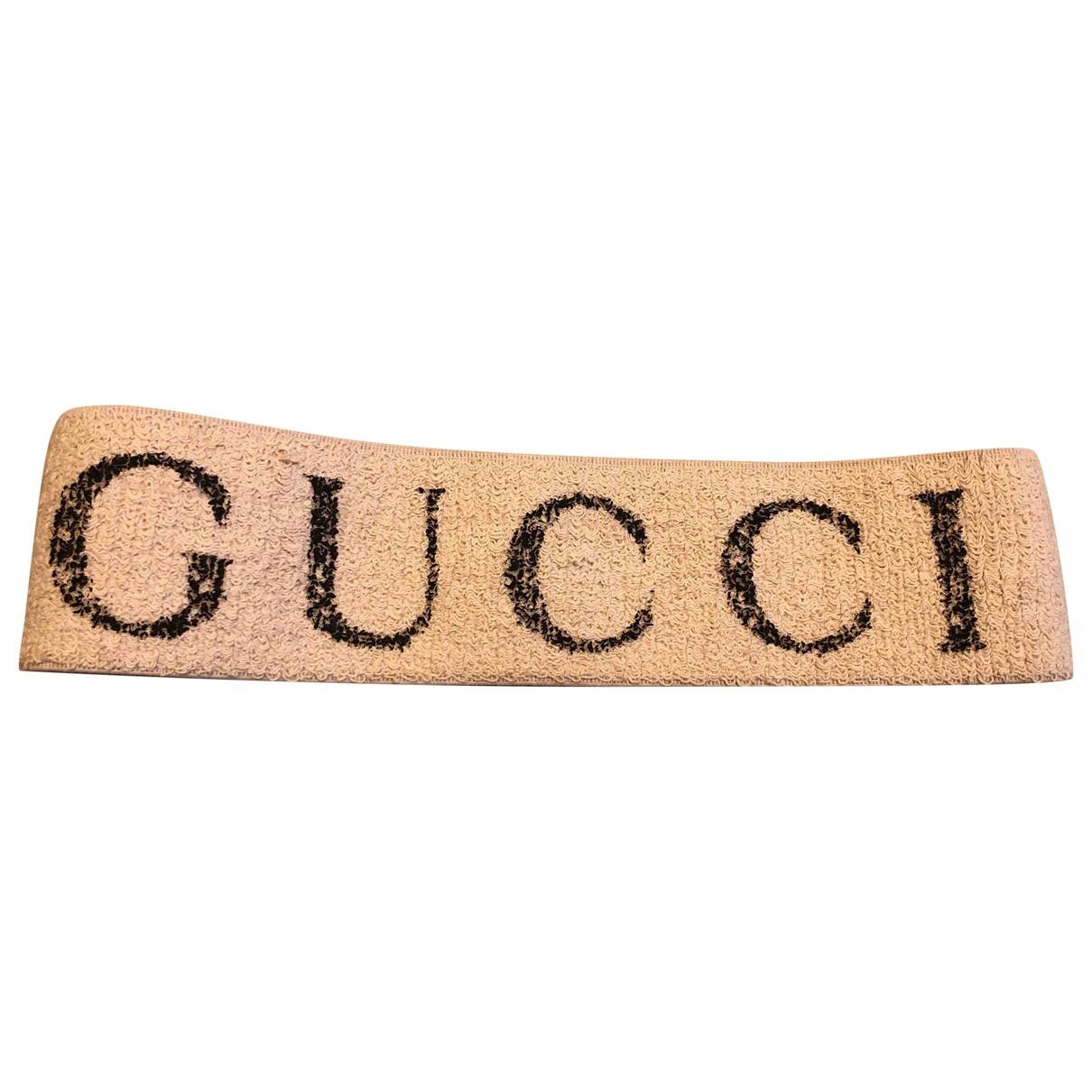 Gucci - Bijoux de tete   pour femme en toile - beige