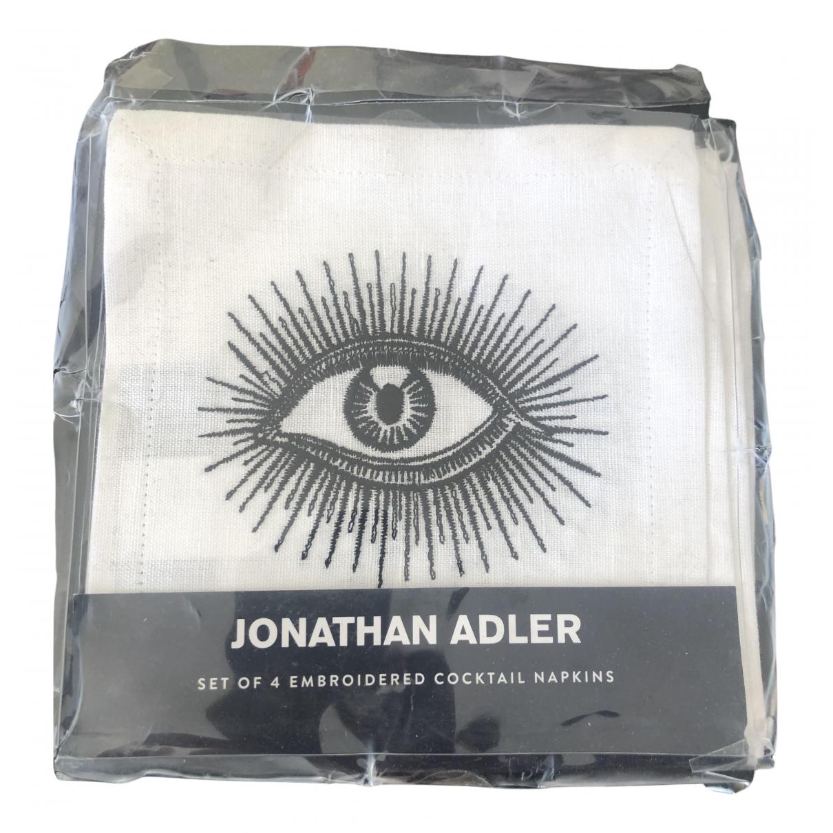 Jonathan Adler - Arts de la table   pour lifestyle en coton - ecru
