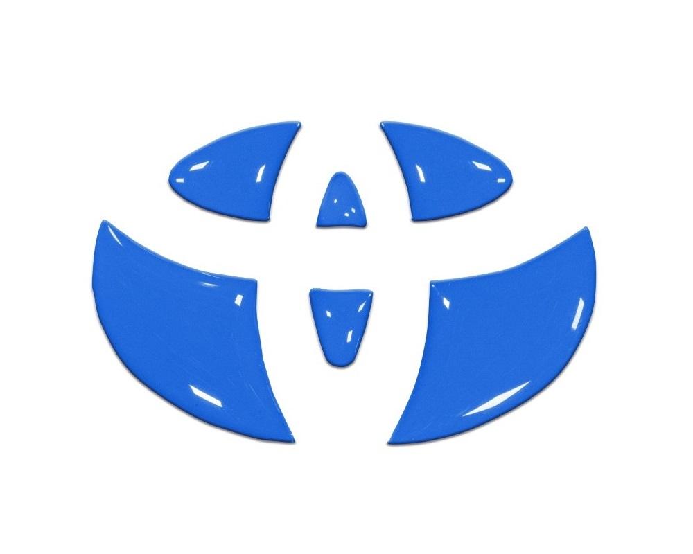 Tufskinz TAC048-VODB-G Emblem Inserts For Steering Wheel Fits 2005-2015 Toyota Tacoma 6 Piece Kit In Voodoo Blue