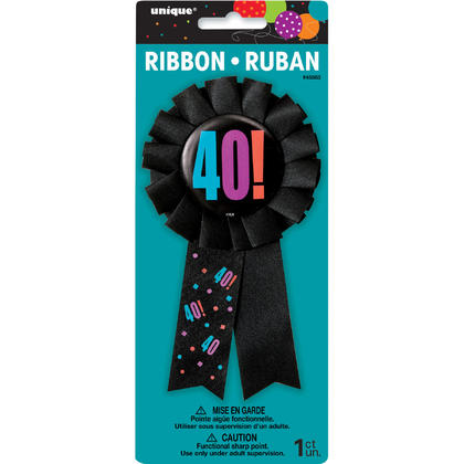 Birthday Cheer Age 40 Award Badge For Birthday Party