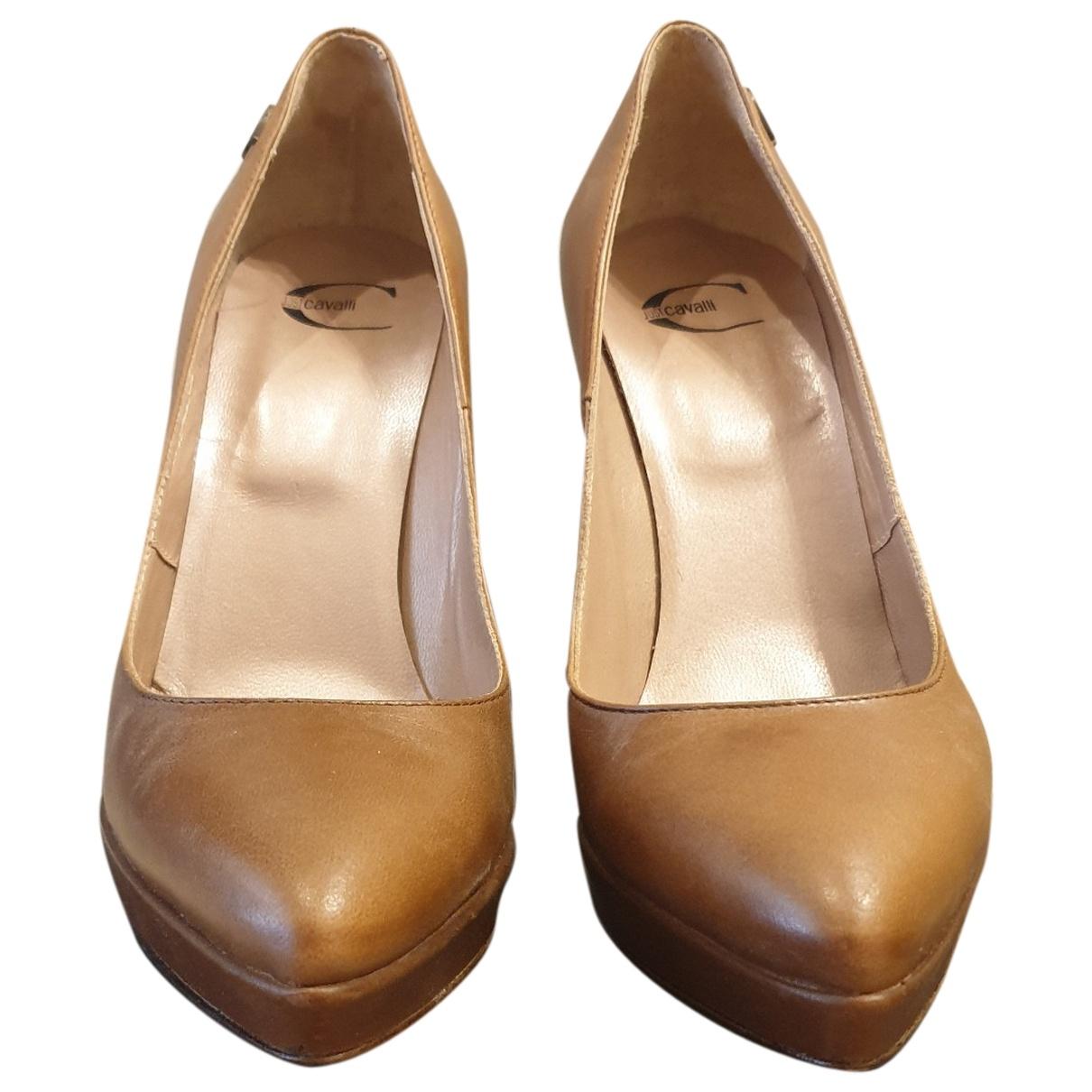 Just Cavalli \N Camel Leather Heels for Women 40 EU