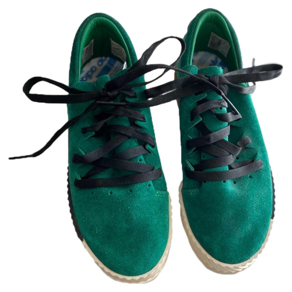 Adidas Originals X Alexander Wang \N Green Leather Trainers for Women 36.5 EU