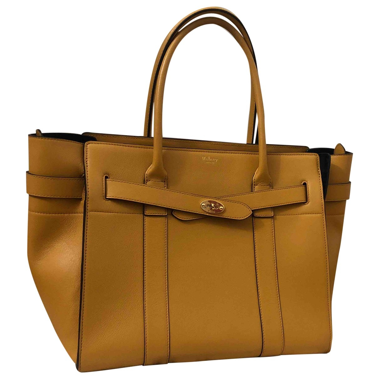 Mulberry Bayswater tote Yellow Leather handbag for Women \N