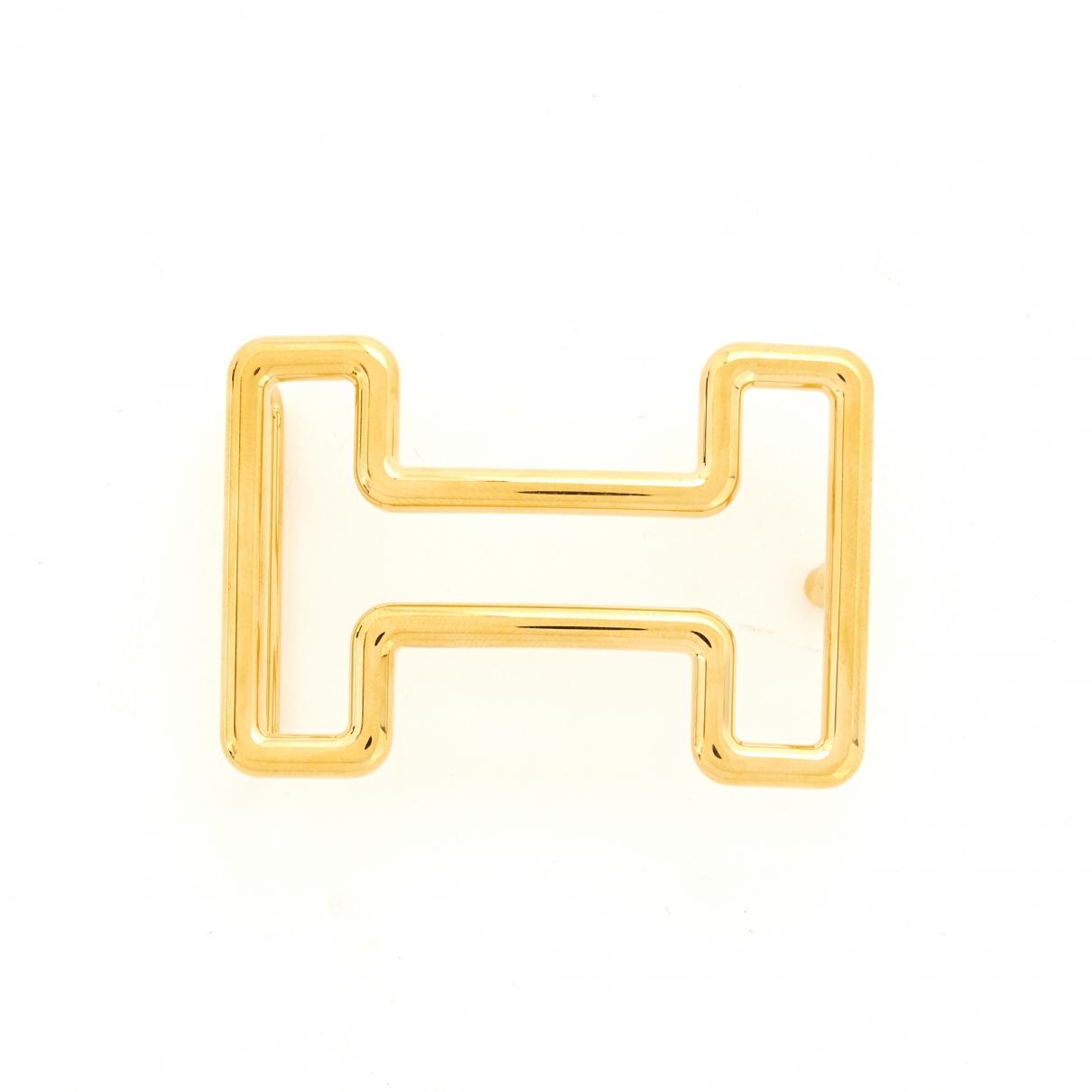 Hermes Boucle seule / Belt buckle Guertel in  Gold Metall
