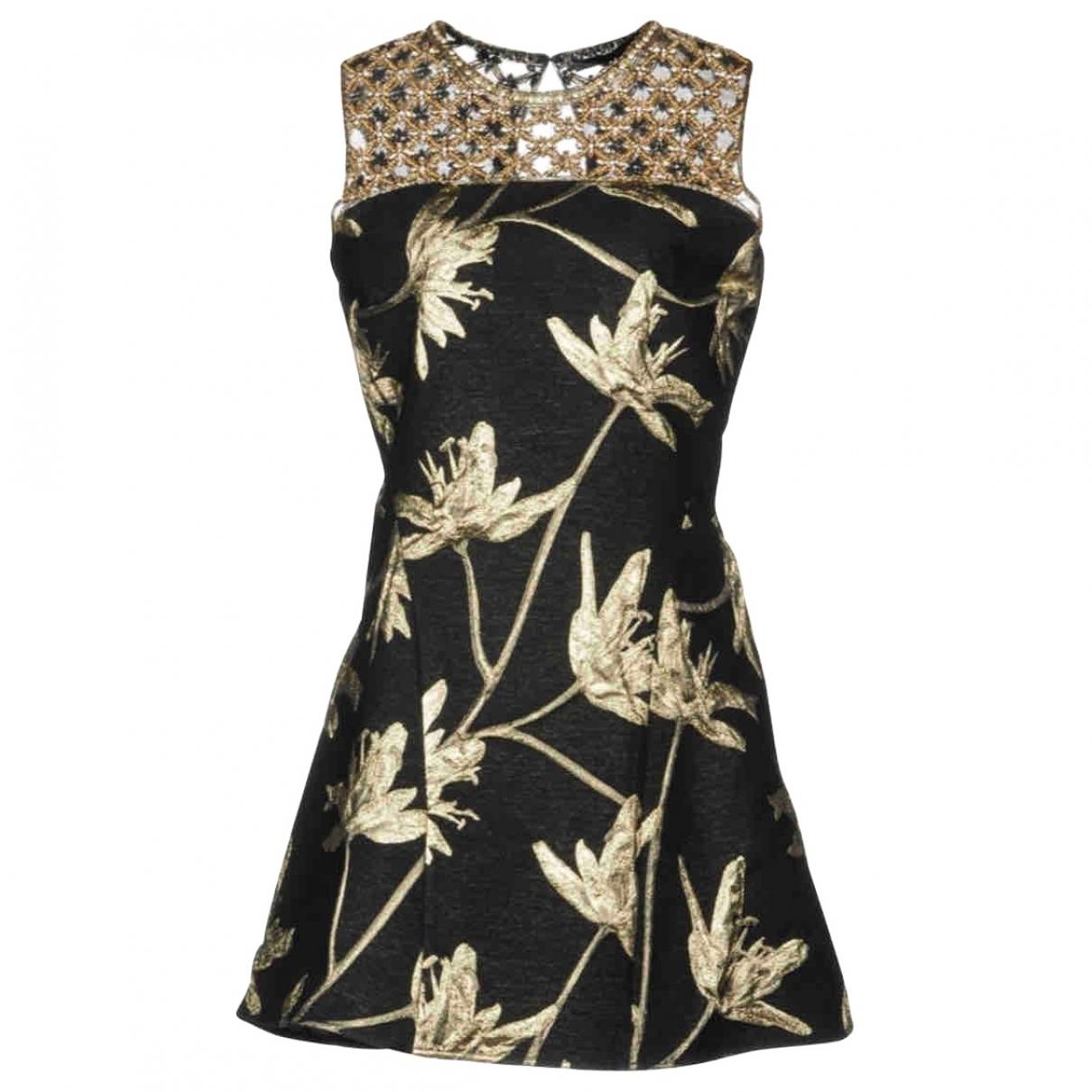 Amen Italy \N Kleid in  Schwarz Polyester