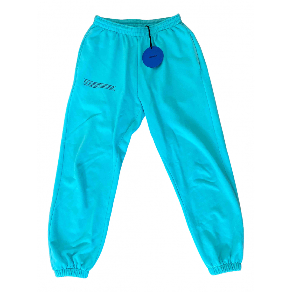 The Pangaia \N Turquoise Cotton Trousers for Women XS International