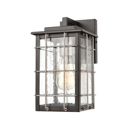 46710/1 Brewster 1-Light Sconce in Matte Black with Seedy