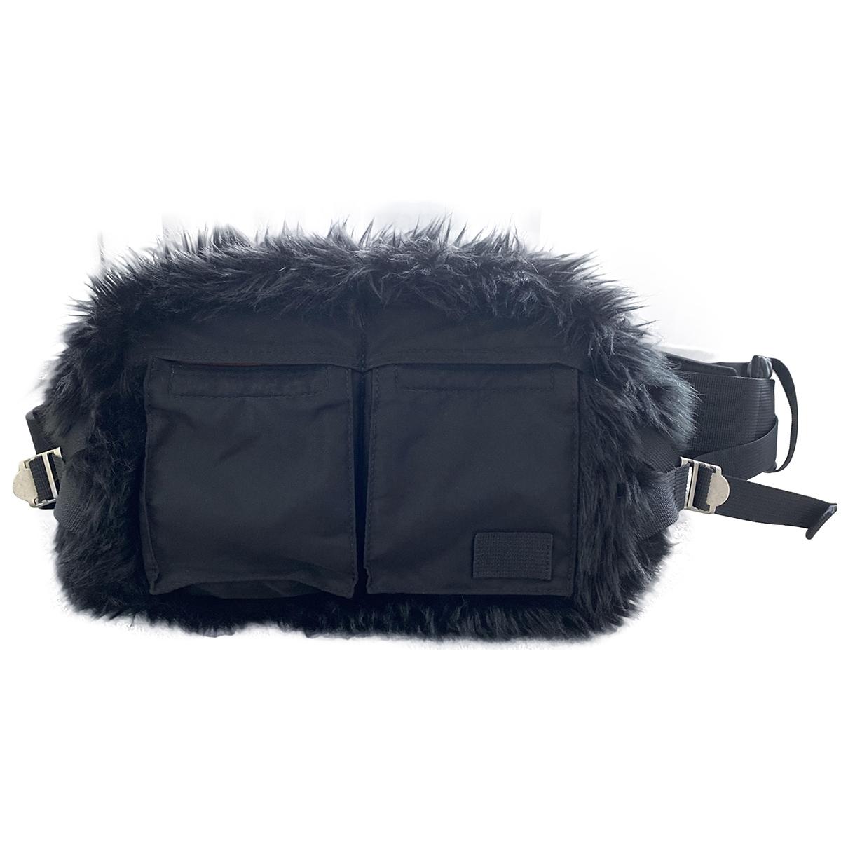 Sacai \N Black Faux fur handbag for Women \N