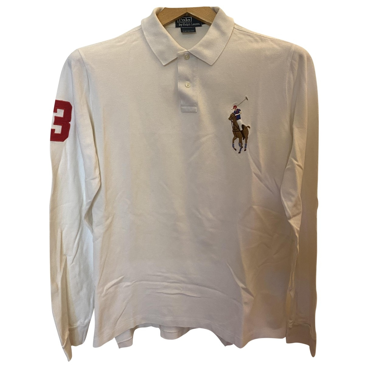 Polo Ralph Lauren - Polos Polo classique manches longues pour homme en coton - blanc