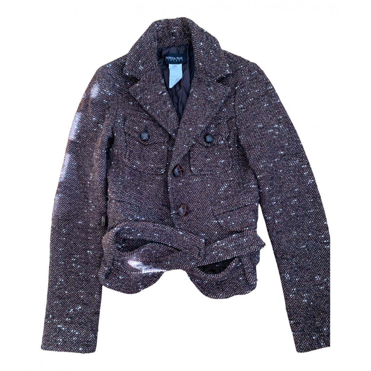 Patrizia Pepe - Veste   pour femme en laine - bordeaux