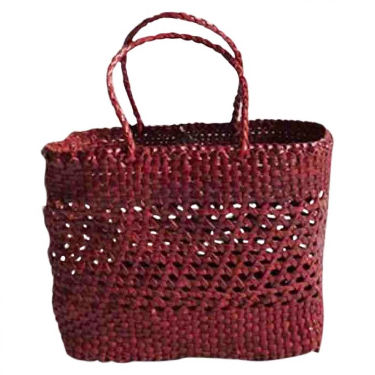 Dragon Diffusion \N Burgundy Wicker handbag for Women \N