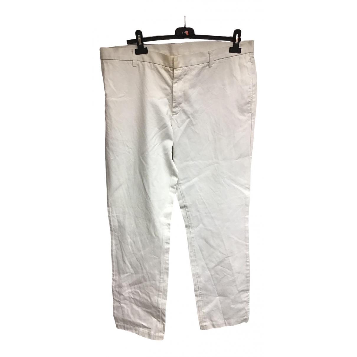 Pantalones en Algodon Blanco Just Cavalli