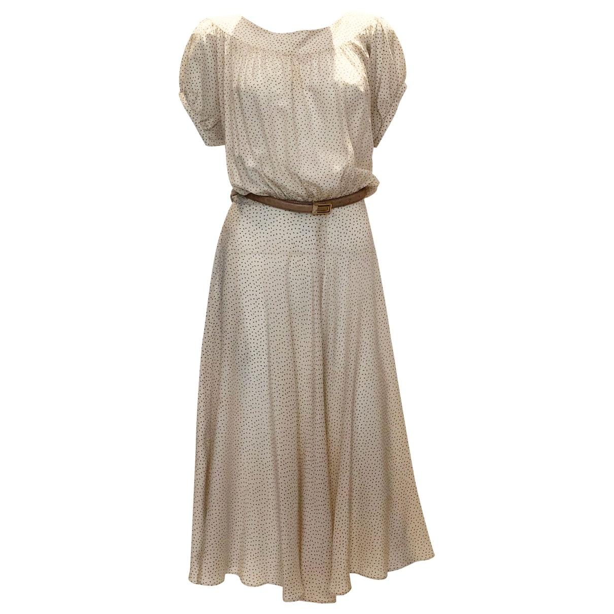Cacharel \N Kleid in  Beige Seide