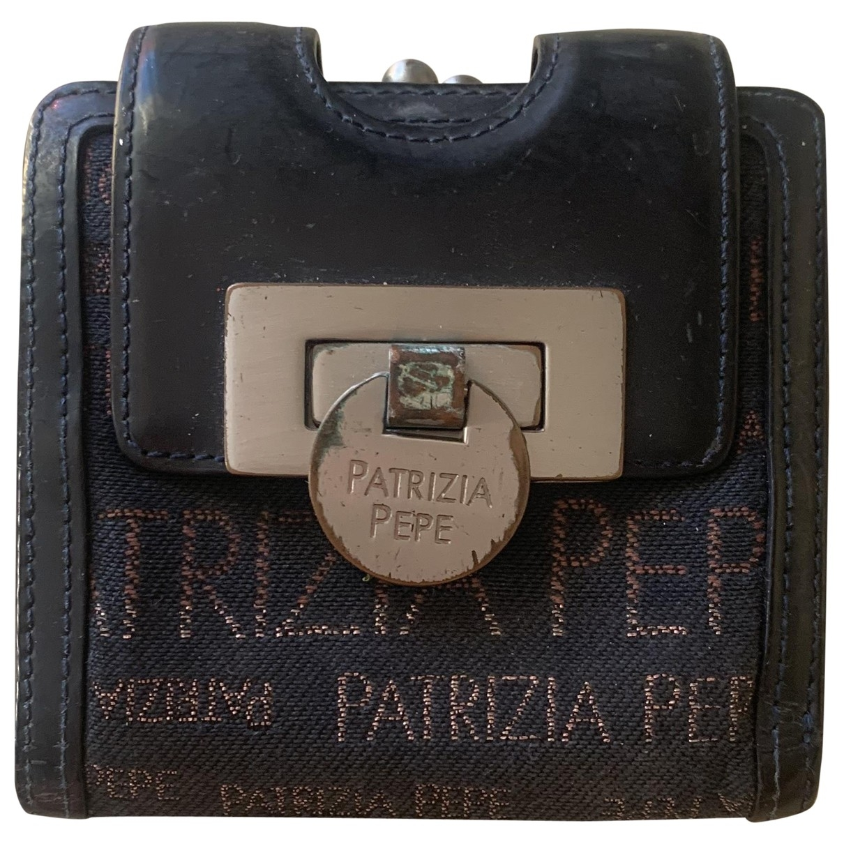 Patrizia Pepe - Portefeuille   pour femme en toile - noir