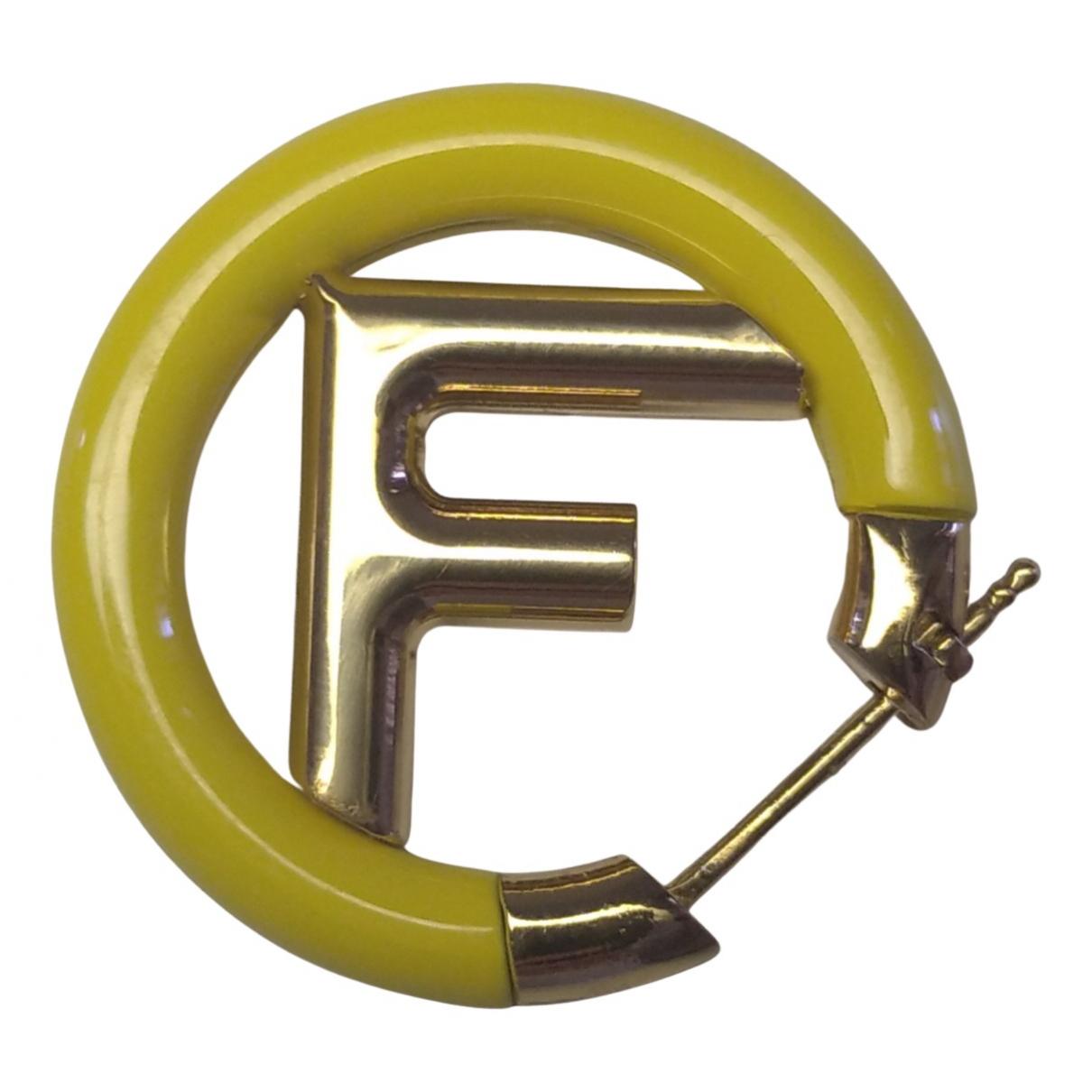 Fendi \N OhrRing in  Gelb Metall