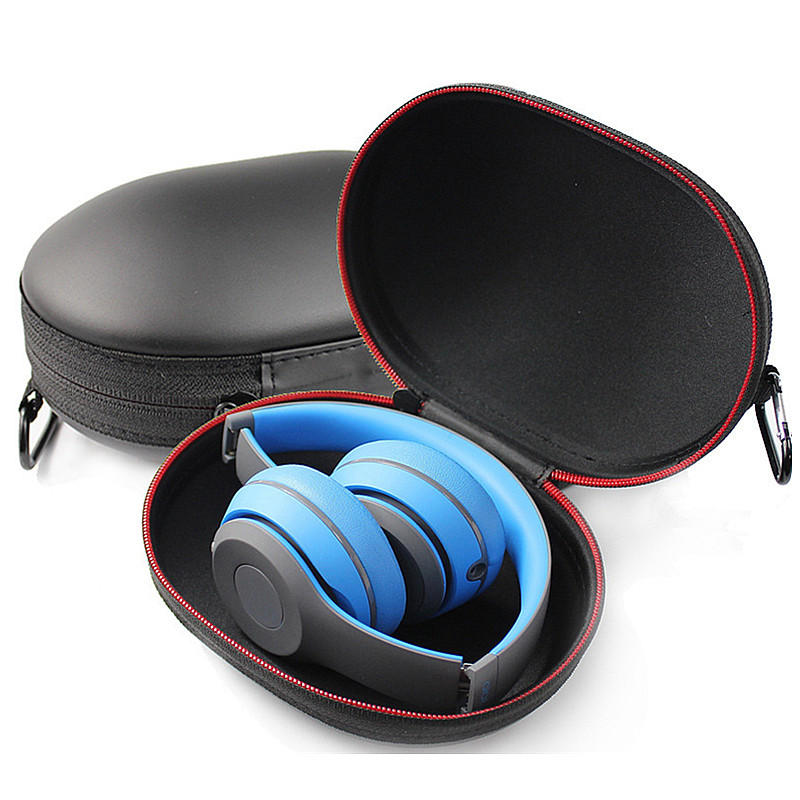 Portable Protective EVA Leather Earphone Storage Bag Waterproof Zipper Case for Beats Studio2.0 Headphones