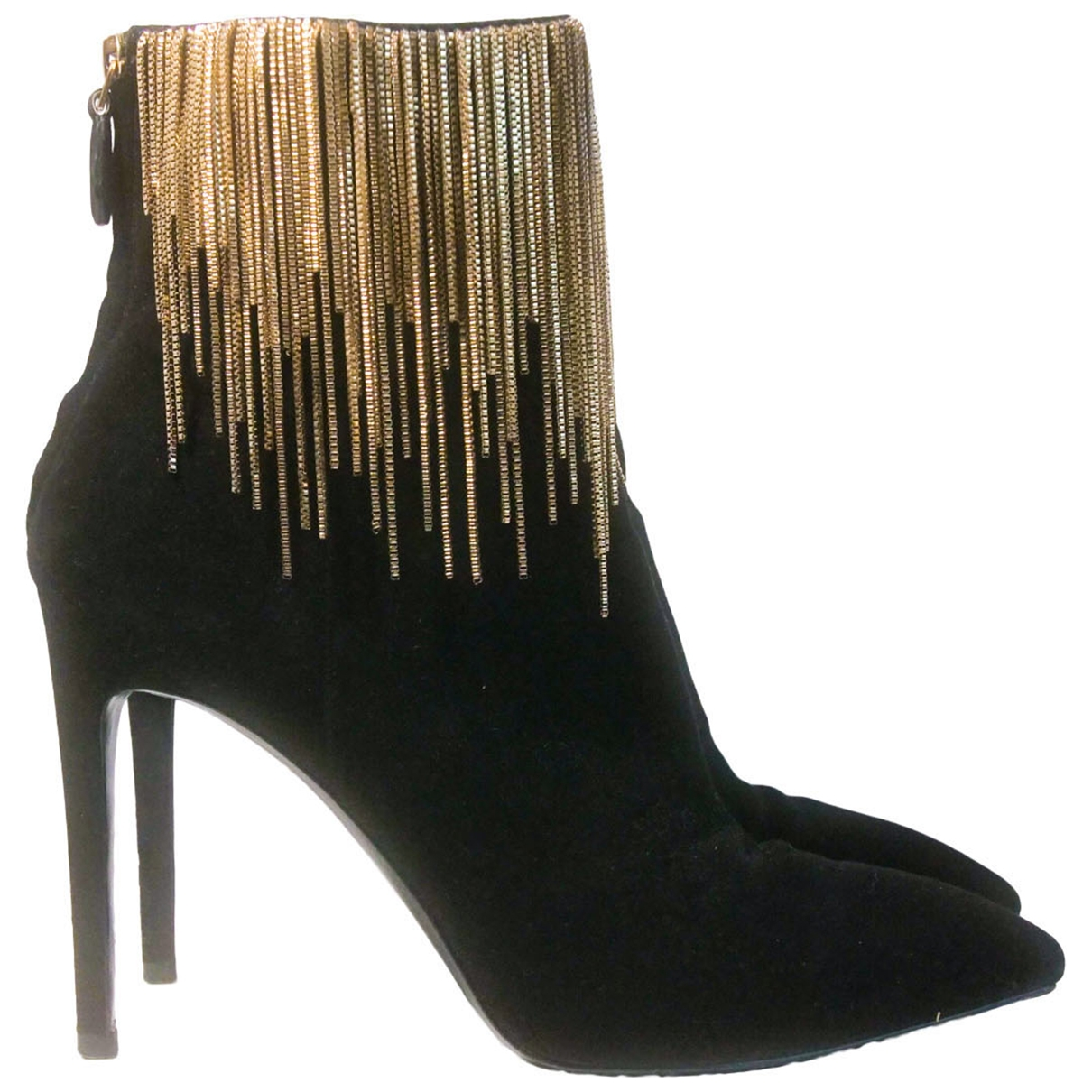 Stella Luna \N Black Suede Ankle boots for Women 40 EU