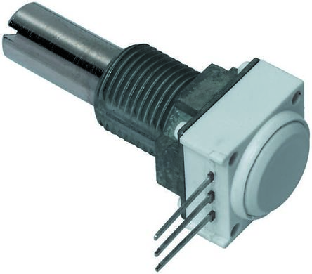 Vishay 1 Gang Rotary Cermet Potentiometer with an 6.35 mm Dia. Shaft - 5kΩ, ±10%, 1W Power Rating, Linear, Panel Mount