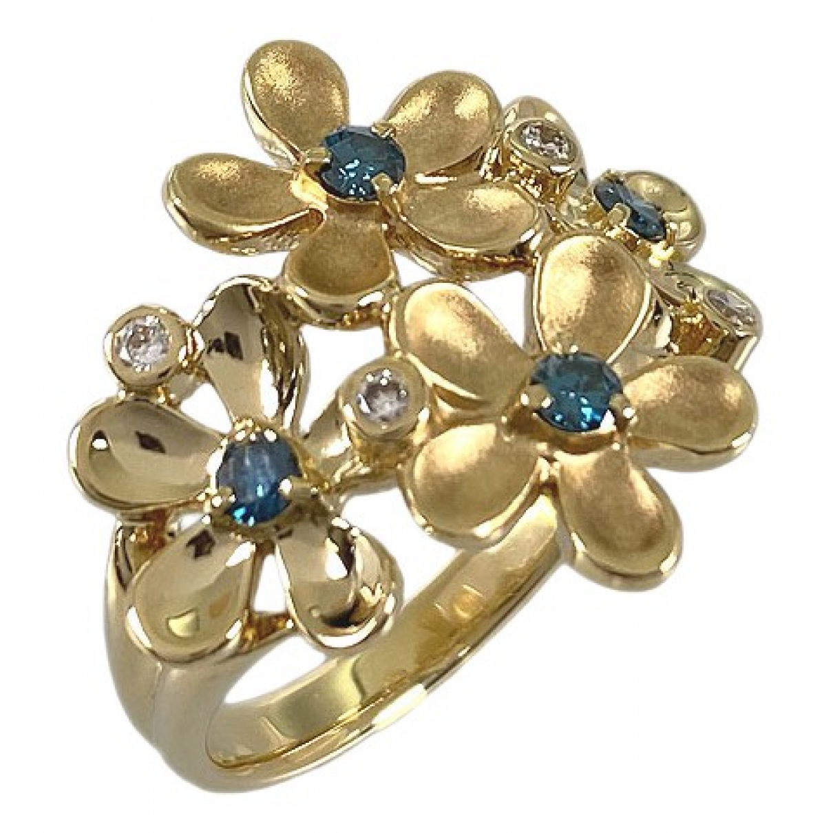 Non Signe / Unsigned Motifs Floraux Ring in  Gold Gelbgold