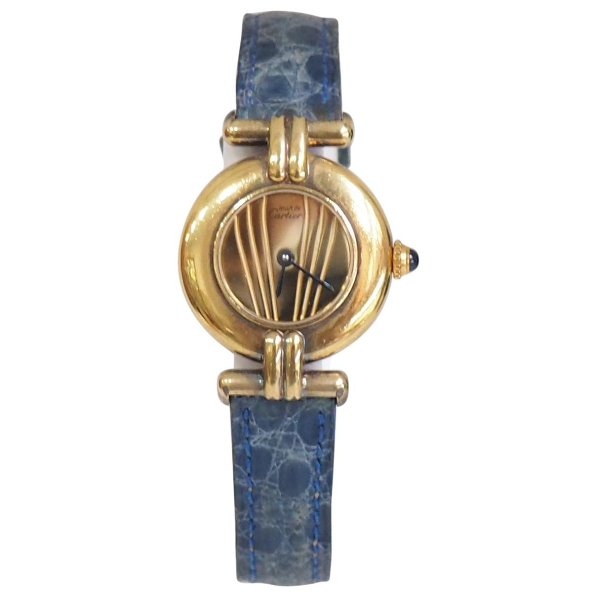 Cartier \N Uhr in  Blau Vermeil