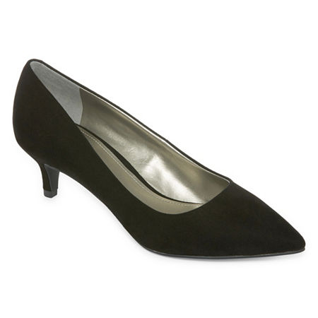 Worthington Womens Danika Pumps Kitten Heel, 9 Medium, Black