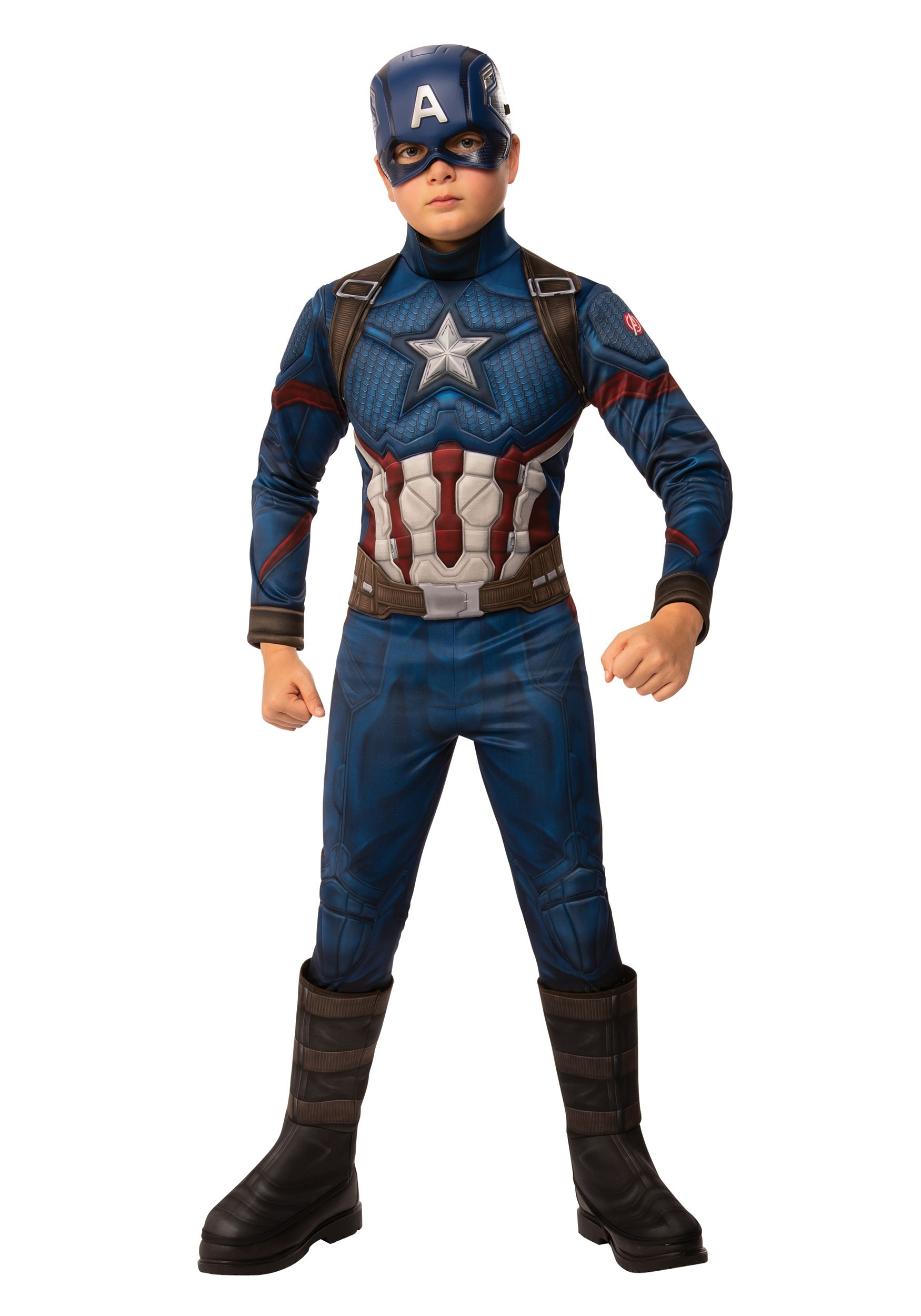 Marvel Avengers Endgame Boys Captain America Deluxe Costume