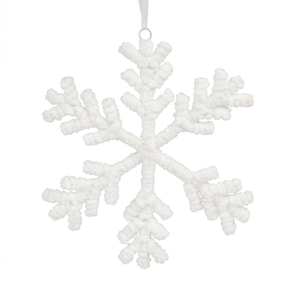 Weihnachtliche Haengedeko, Schneeflocke aus Baumwolle