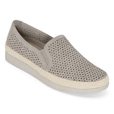 Yuu Womens Lacey Slip-On Shoe, 11 Medium, Gray