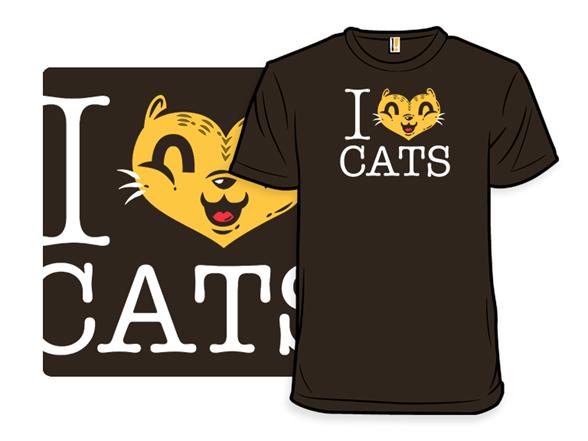 I Heart Cats T Shirt