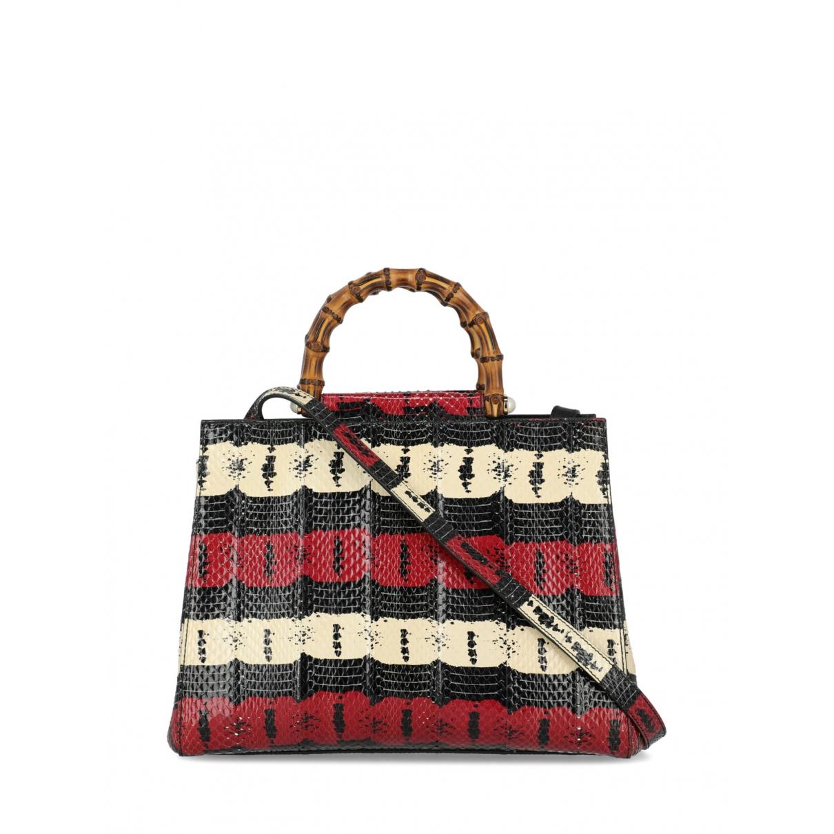 Gucci Bamboo Handtasche in  Bunt Python