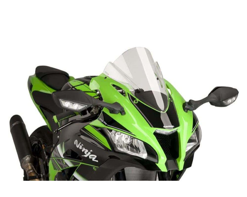 Puig 8912W-2M Z-Racing Windscreen - Clear Kawasaki ZX-10R 2016