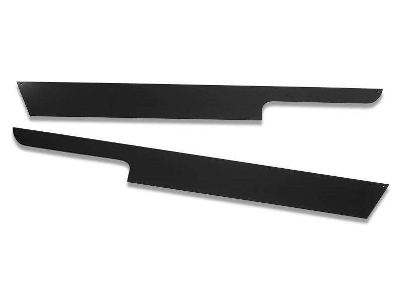 Warrior Products S908U Sideplates w/Lip Smooth Black Jeep Wrangler YJ 87-96