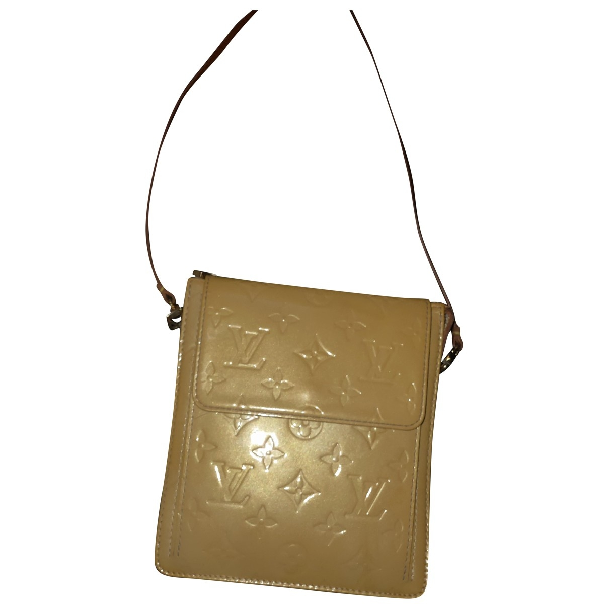 Louis Vuitton \N Clutch in  Kamel Lackleder