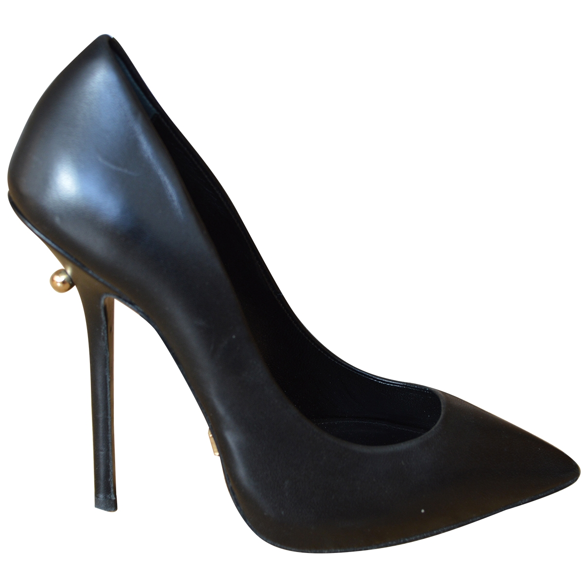 Dukas \N Black Leather Heels for Women 37 EU