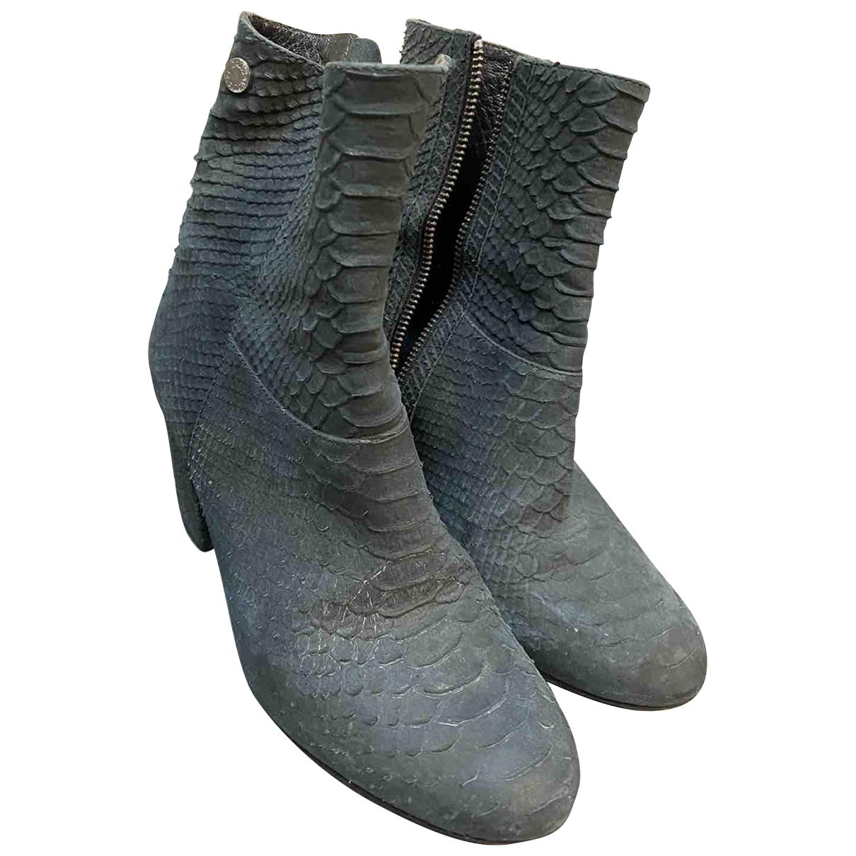 Zadig & Voltaire \N Grey Water snake Boots for Women 38 EU