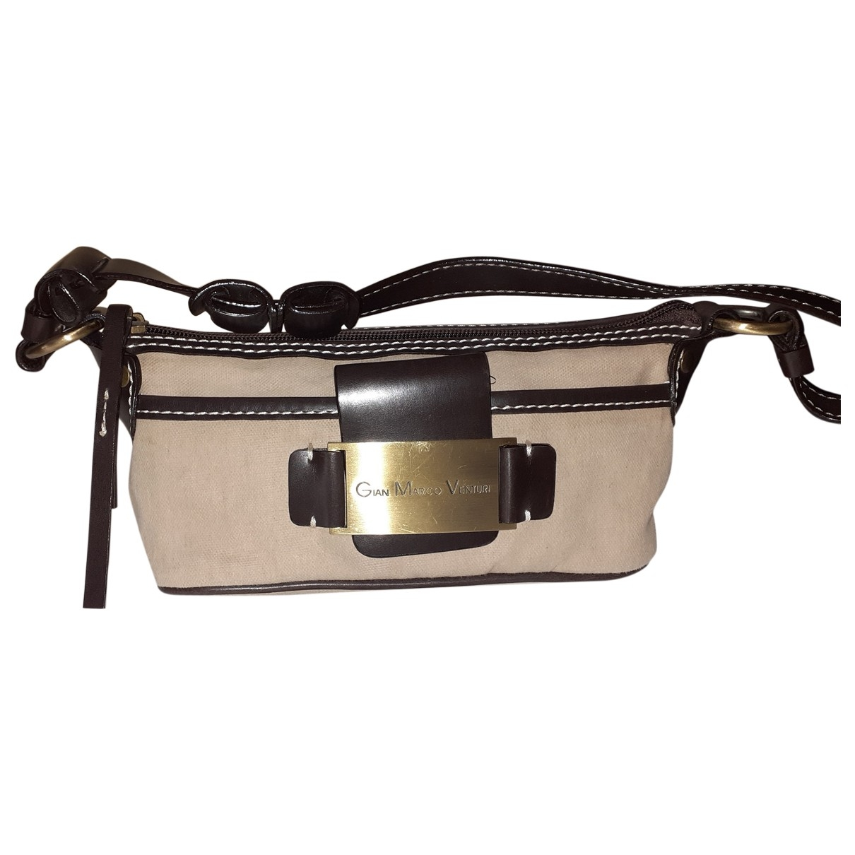 Non Signé / Unsigned \N Beige Cotton Small bag, wallet & cases for Men \N