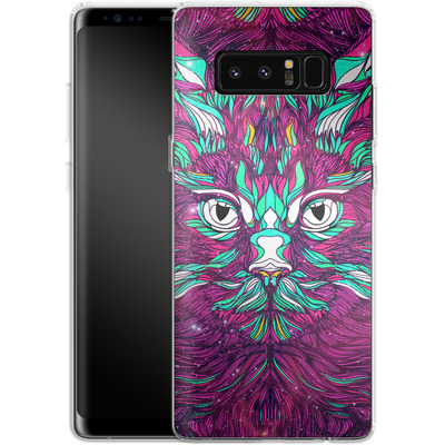 Samsung Galaxy Note 8 Silikon Handyhuelle - Space Cat von Danny Ivan