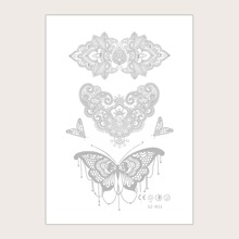 1sheet Butterfly Print Tattoo Sticker