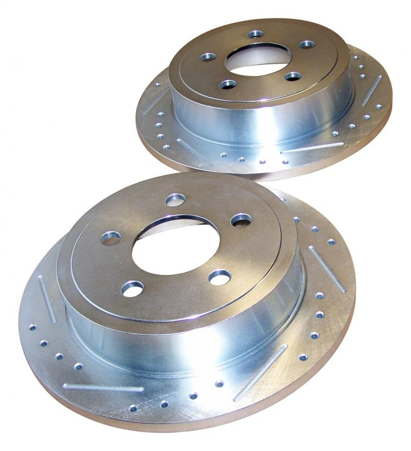 RT Offroad RT31005 Left and Right Rear High Performance Rear Cross Drilled and Slotted Rotor Set Jeep Rear