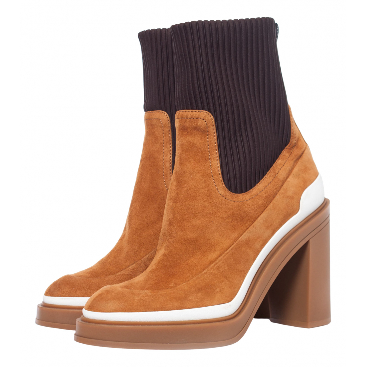 Hermès N Brown Suede Ankle boots for Women 39 EU