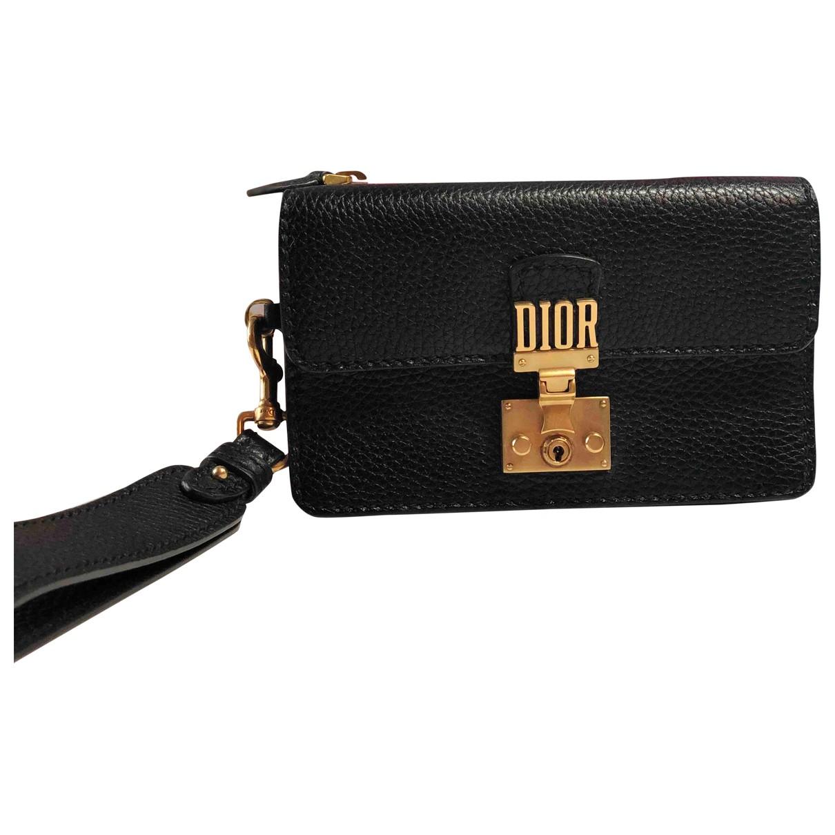 Dior DiorAddict Clutch in  Schwarz Leder