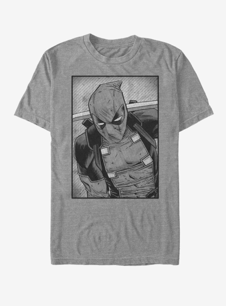 Marvel Deadpool Black And White T-Shirt